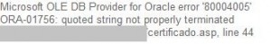 Oracle_String_not_terminated
